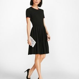 Brooks Brothers Pleated Sweater Dress
